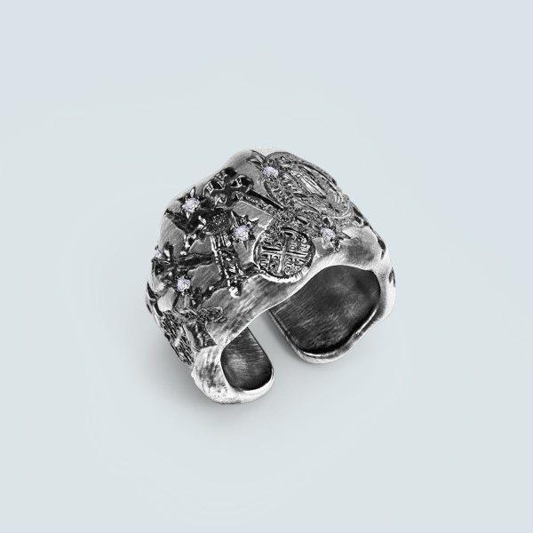 Religion Carved Ring
