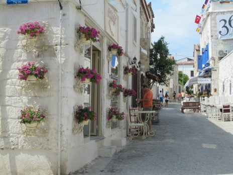The beautiful streets of Alacati