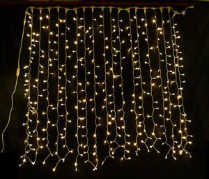 led fairy light curtain warm white