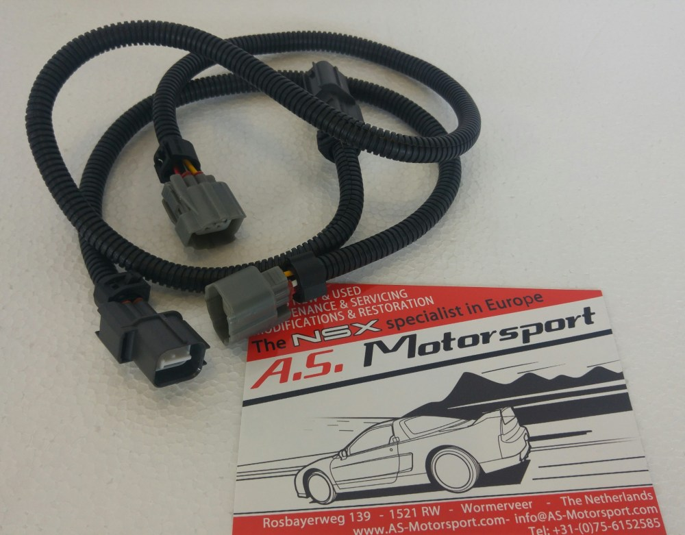medium resolution of 02 sensor extended wiring harness exhaust nsx catalog a s motorsport