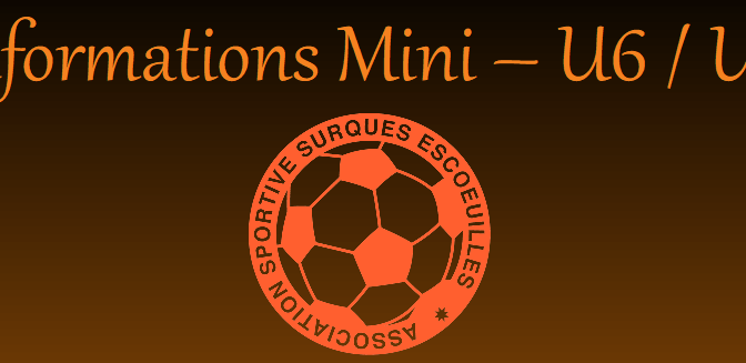 Séances Mini/U6/U7