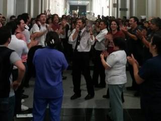 Triunfazo en el Hospital Italiano