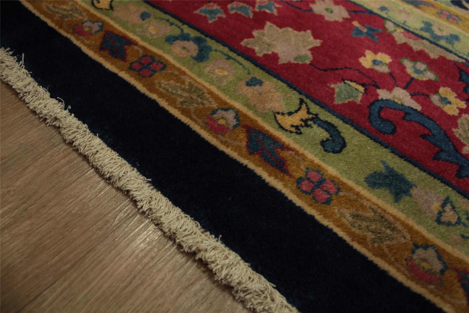 Echte Teppich Orient Antik China fein 250x350 cm Handgeknpft 100 Wolle blau  eBay