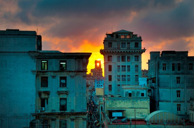 Buildings in Havana, Cuba.