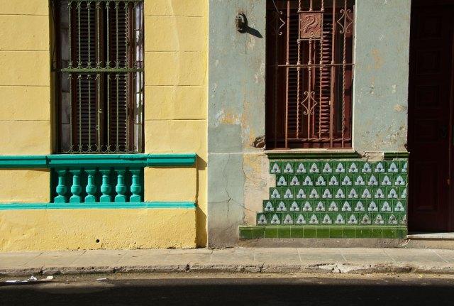 Two buildings in Havana, Cuba.