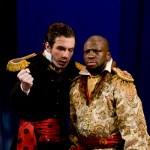 Iago speaking to Othello, alone