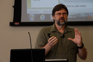 Dr. Andrew Drozd, associate professor of Russian, gave a talk about doctors in 19th-century Russian literature as part of a new lecture series.