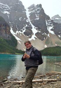 Dr. Nick Tew at Moraine Lake.
