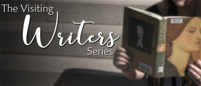 Banner with the words The Visiting Writers Series