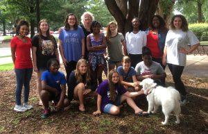 Camp participants with Dr. Barbara Brickman