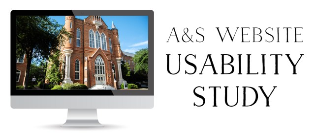 Banner with the words A&S Website Usability Study