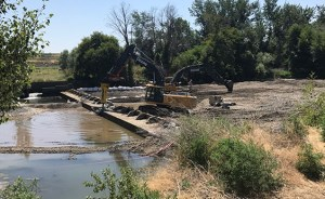 The deconstruction of the Dillon Dam was completed in several phases in order to ensure the safety of the endangered fish.