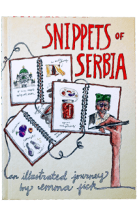 The cover of Fick's book, Snippets of Serbia.