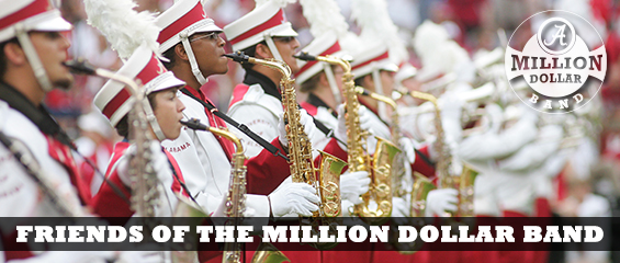 Banner of the Million Dollar Band and the words Friends of the Million Dollar Band