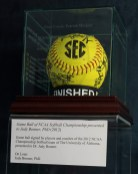 Game ball signed by players and coaches of the 2012 NCAA Championship Softball team of The University of Alabama, presented to Judy Bonner.