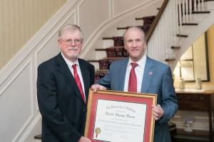 Dr. David Dixon and President Stuart Bell