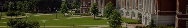 aerial view of the Shelby Quad