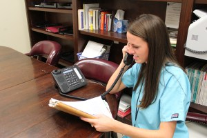 Students work as Spanish translators both in-person and through forms of remote communication.