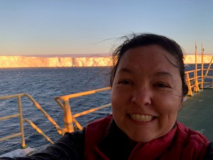 Victoria Fitzgerald on the ITGC's research facility in Antarctica (Credit: Victoria Fitzgerald).