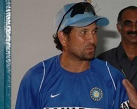 Sachin at practice