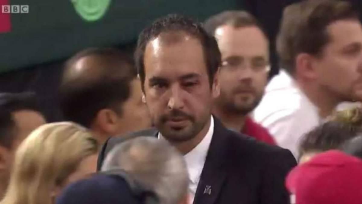 Un pelotazo al juez de silla expulsa a Canad de la Davis  AS Colombia