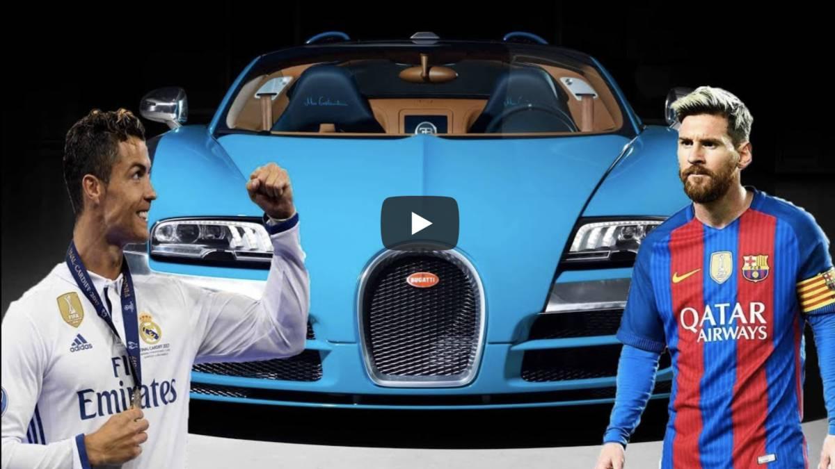 Messi vs Cristiano el vdeo que compara los coches de los dos jugadores  AScom