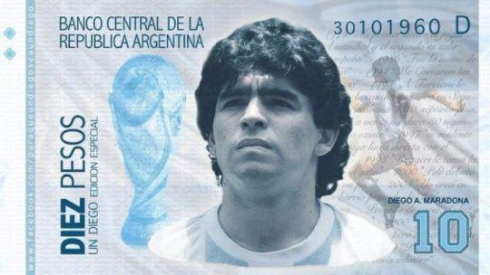 El gobierno argentino propone imprimir billetes con la cara de Maradona y el gol a Inglaterra