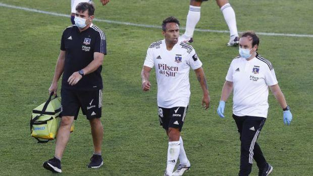 El dolor de Valdivia: jugó diez minutos y salió con molestias
