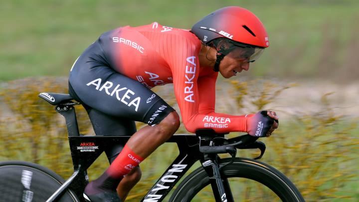 Nairo Quintana y Sergio Higuita hacen una buena crono en la etapa 4 de la París-Niza