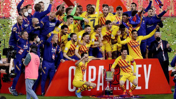 Athletic Club 0-4 Barcelona: result, goals, summary - Copa del Rey final 2021 - AS.com