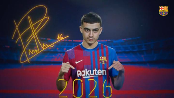 "Barcelona confirm ""Dreamteen"" Pedri renewal as club sets €1bn buyout clause  - AS.com"