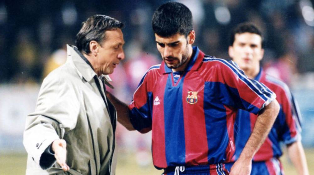 Image result for guardiola and cruyff