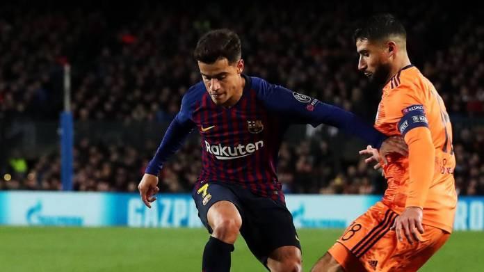 Coutinho, en un partido con el Barcelona.