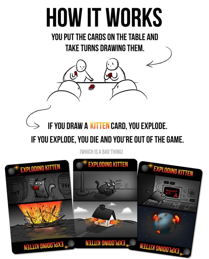 Los gatitos explosivos, nueva moda de Kickstarter