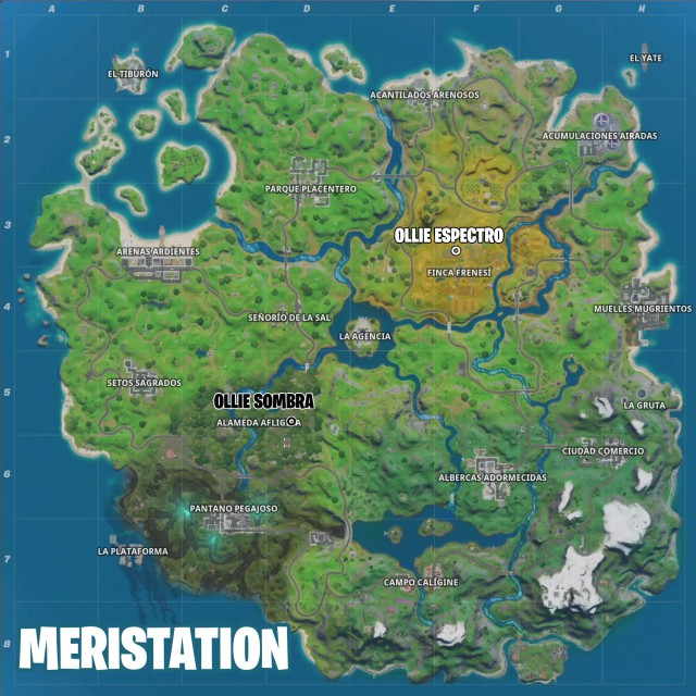 fortnite chapter 2 season 2 challenges of skye challenge is to ollie spectrum farm frenzy ollie shade alameda distressed map