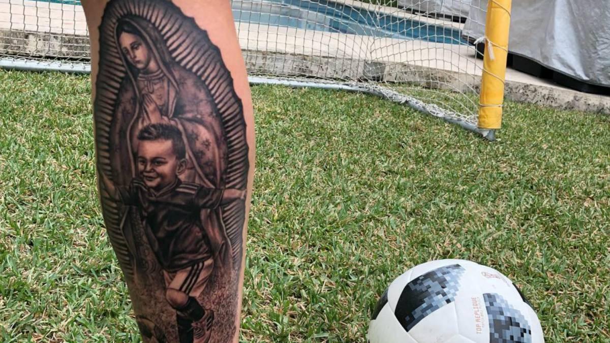 André Pierre Gignac Presume Tatuaje De La Virgen De Guadalupe As Usa