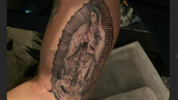 Cruz Azul Edgar Méndez Presume Tatuaje De La Virgen De Guadalupe