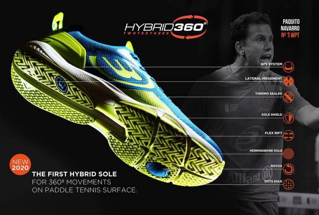 La nueva suela Hybrid 360 de Bullpadel.