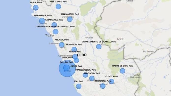 Ya son 11.475 casos confirmados por coronavirus en Perú según los datos del Ministerio de Salud, con Lima como la región del país más afectada por el Covid-19.