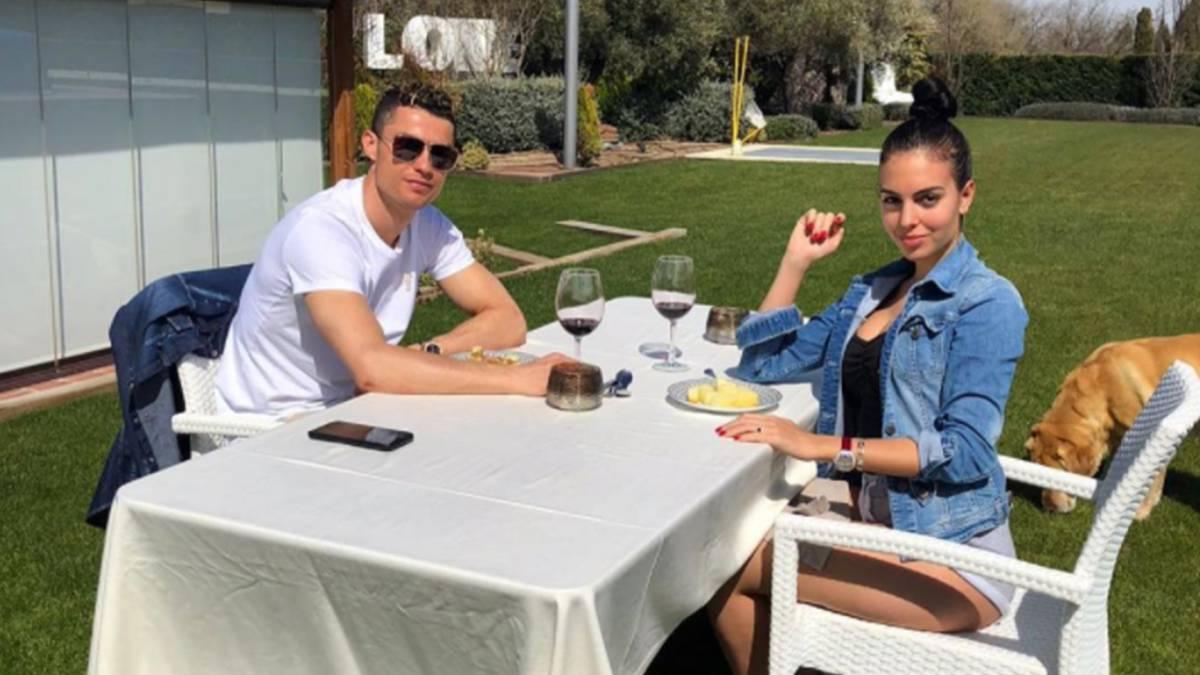 Cristiano Ronaldo celebra la Pascua con una cena ntima con Georgina Rodrguez  AScom