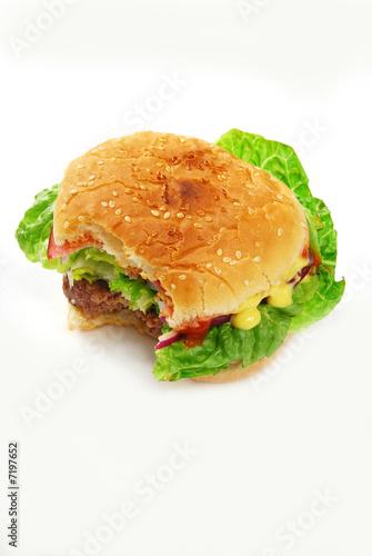 Je N Ai Pas Pu : Hamburger, Très, Appétissant,, Résister, Stock, Photo, Adobe