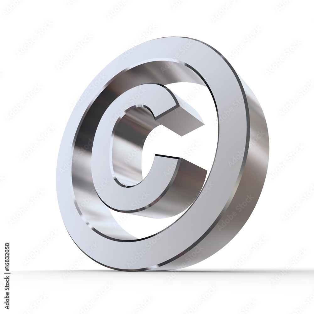 shiny copyright symbol foto