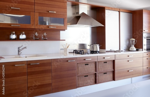 white kitchen bench ceramic tile countertops red wood buy this stock photo and