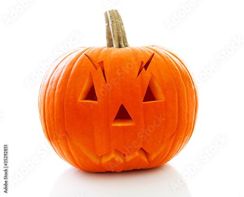 scary halloween pumpkin with