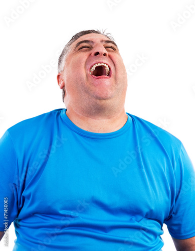 Image Of Laughing Hysterically : image, laughing, hysterically, Portrait, Laughing, Hysterically, Stock, Photo, Adobe