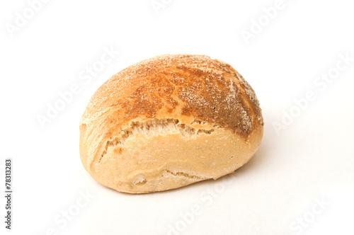petit pain rond sur fond blanc buy