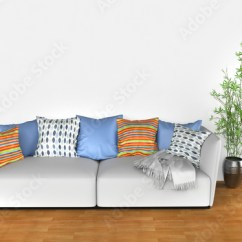 Bright Sofa Folding Bed With Colorful Cushions Buy This Stock Illustration And
