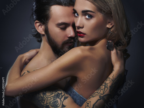Beautiful Couple Sexy Woman And Handsome Man Lovely Boy And Girl