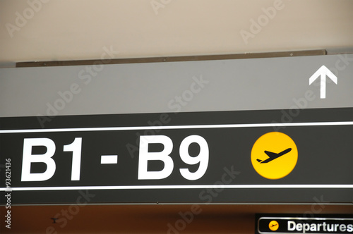 airport gates concept with