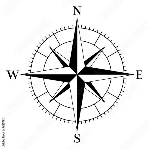 Kompass - Stock-Vektorgrafik Adobe Stock